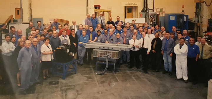 The motor assembly team, circa 1999