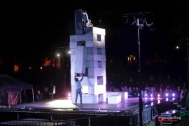 BLOCK being performed in Winckley Square Pic: Paul Melling
