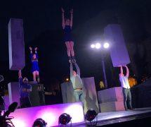 The acrobatics begin in Winckley Square Pic: Tom Costello