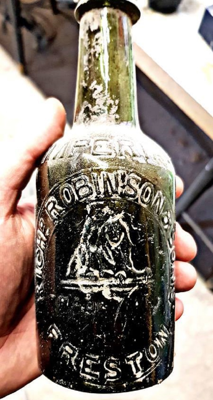 The bottle found by David and his team
