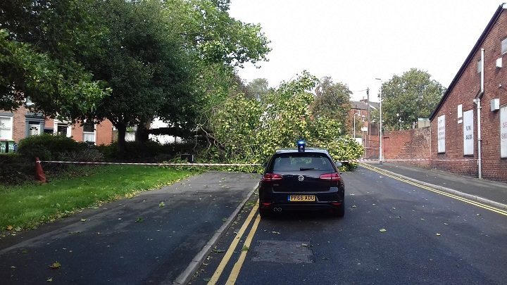 The scene in Bray Street Pic: Tony Worrall