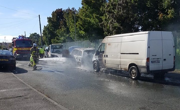 Dawnay Road in Ribbleton was closed while the fire was dealt with Pic: Graham Robinson