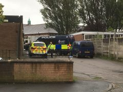 Police at the primary school in Ribbleton Pic: Stephen Melling