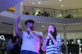 Jack Fincham and Dani Dyer in St George's Shopping Centre