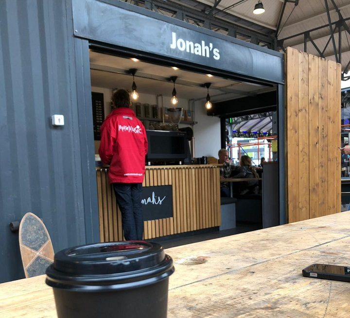 Jonah's has taken up one of the spots in the Box Market