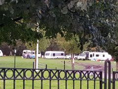 The caravans in London Road