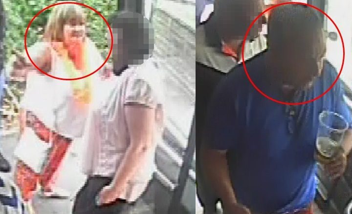 CCTV pictures release by police of a man and woman they wish to speak to