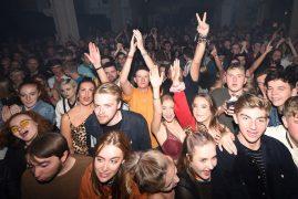 Music fans inside the Minster