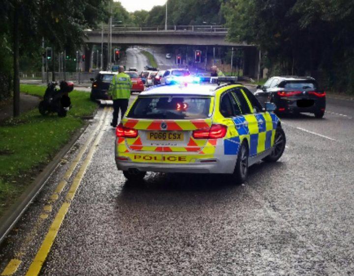 Police at the scene in Penwortham Pic: LancsRoadPolice
