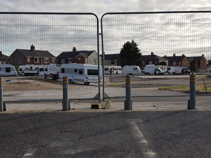The former Perry's site has been accessed by the travellers Pic: Blog Preston