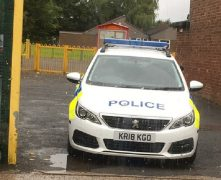 Police remained at the primary school throughout Tuesday Pic: Stephen Melling