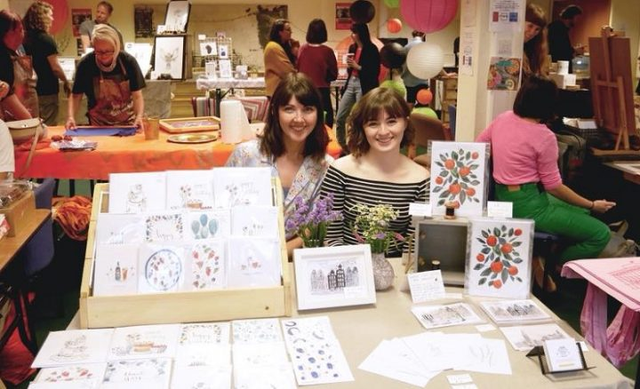 The print fair within The People's Production Lab