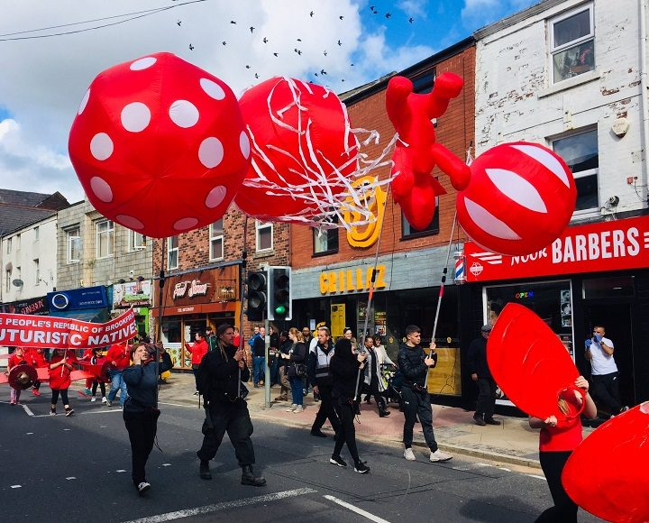 The Red Dream parade coming down Friargate Pic: Louise Hogg