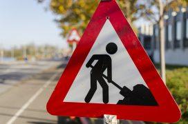 Roadworks signs have gone up along Preston Road in Grimsargh and into Longridge Pic: EsbenS