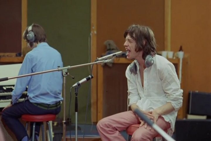 Mick Jagger shown in the Sympathy for the Devil documentary