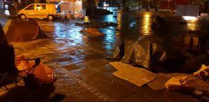 It was a typically wet Preston night