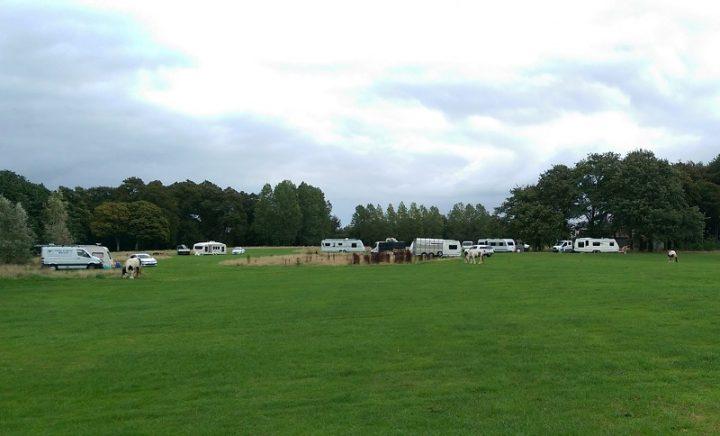 The traveller group in Moor Park Pic: Blog Preston