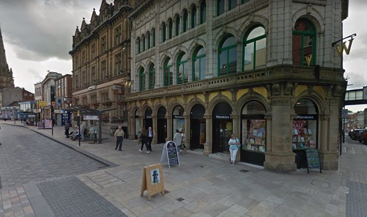 The incident took place outside Waterstones Pic: Google