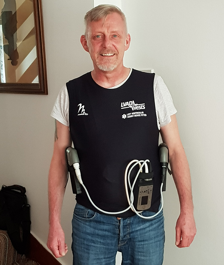 Andrew in his LVAD vest
