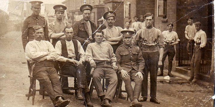 First World War soldiers in barracks Pic: Eric Northey