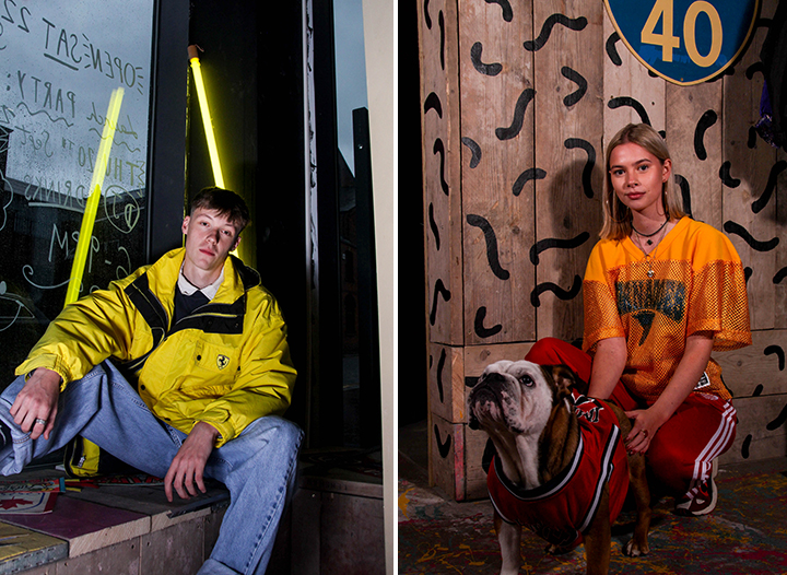 Hollywood Exports launch night models, including Ted the dog Pics: Shaun Peckham