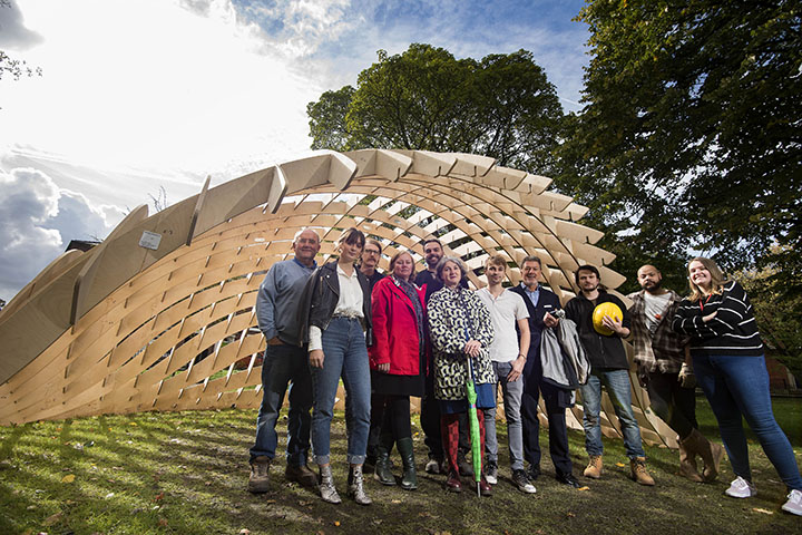 The team behind the Organic City Evolution Meets Revolution pavilion