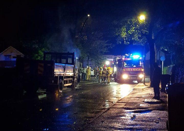 Fire crews on the scene in Ribbleton Pic: Graham Robinson