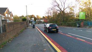 Traffic going down Black Bull Lane during Friday evening Pic: Blog Preston