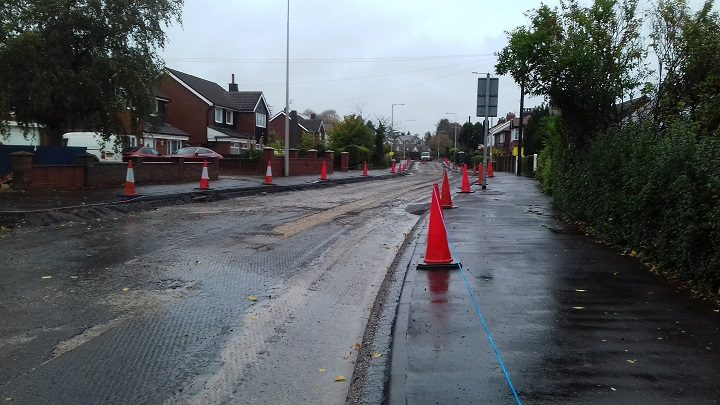 The road surface is being resurfaced in Black Bull Lane Pic: Blog Preston