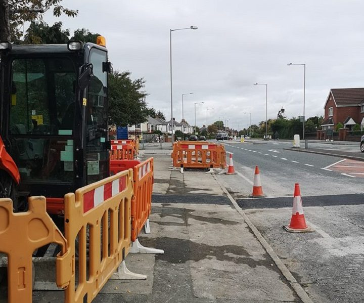 The new crossing in Blackpool Road work about to start Pic: Benny Mc'Nally