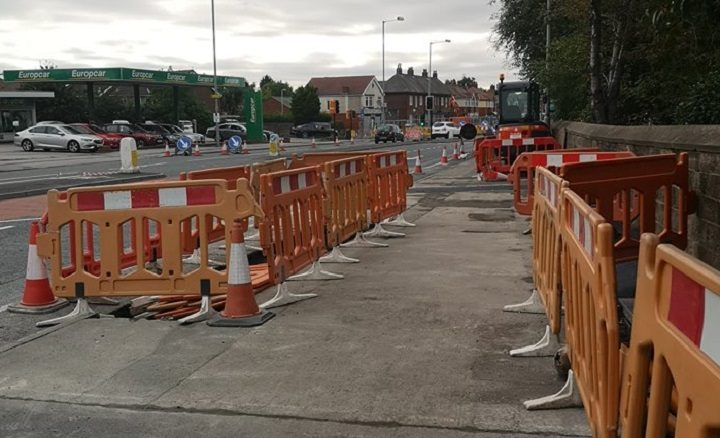 Another view of the work starting in Blackpool Road Pic: Benny Mc'Nally