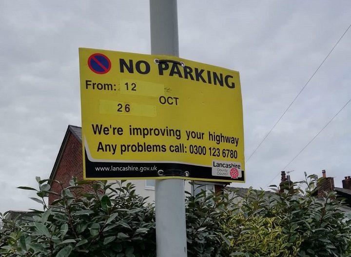 Signs up along Black Bull Lane