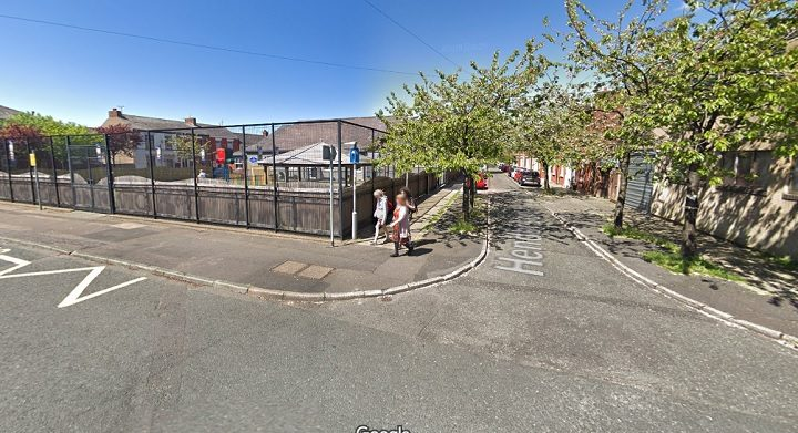 The collision took place near Eldon Street Primary School Pic: Google