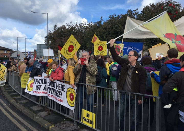 The march ended at Preston Prison Pic: Helen Rimmer