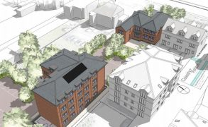 How the new block of flats would look behind the building which faces into Garstang Road