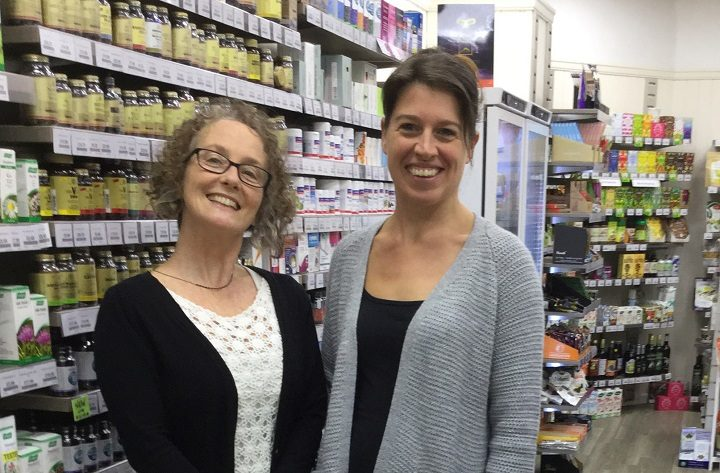 Jenny Swarbrick (right) with one of her team members