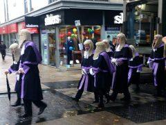 Judges making their way through Preston city centre