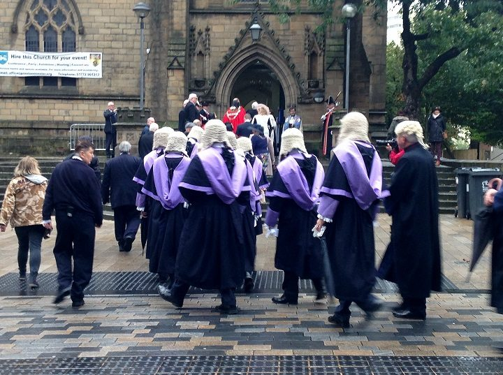 Judges make their way to the Minster Pic: Keith Johnson