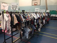Some of the clothes at a previous NCT nearly new sale