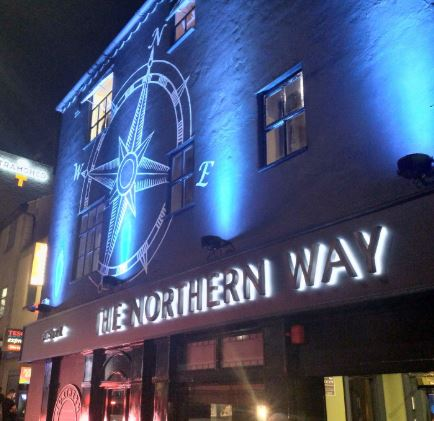 Outside of The Northern Way during opening night Pic: A Beer in Preston