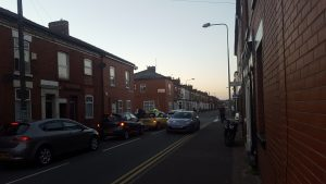Scene in Plungington Road on Wednesday evening Pic: Jennifer Aitkenhead