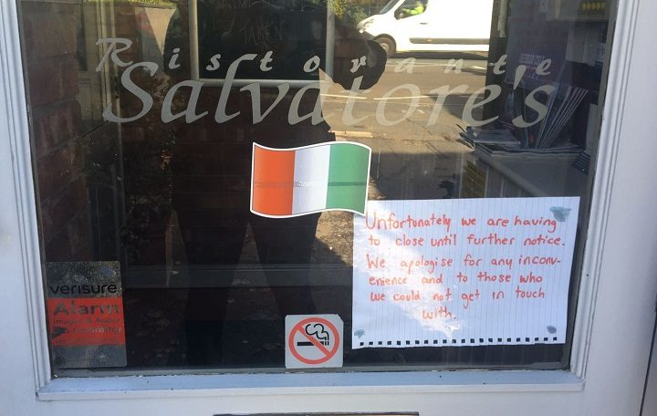 The note on the door of Salvatore's