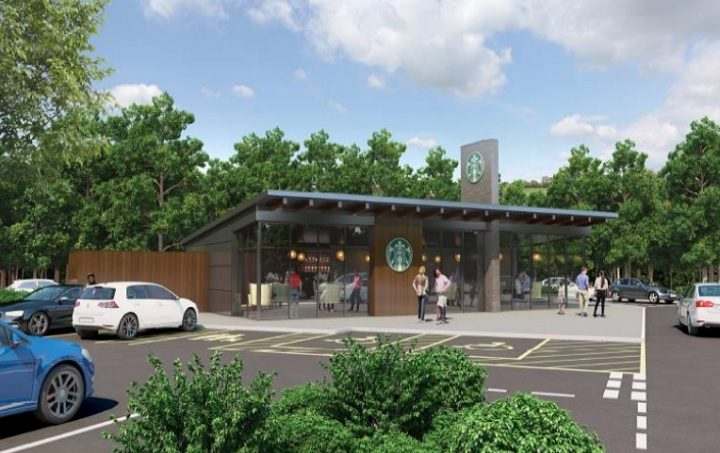 How the Starbucks drive-thru may look