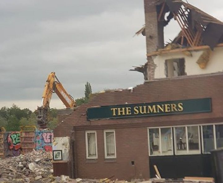 The Sumners was demolished last week Pic: Dave Tattersall