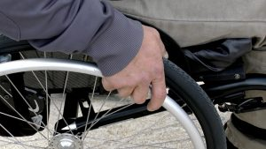 Those in a wheelchair often face difficulties in city centres Pic: Sgenet