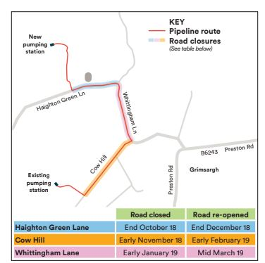This graphic from United Utilities shows where the work will be