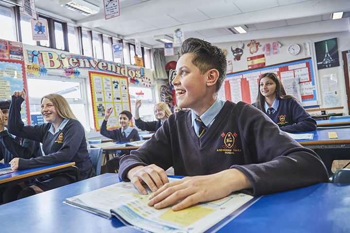 Pupils in the classroom at Archbishop Temple School