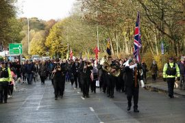 The Penwortham Remembrance service procession 2018 Pic: Chris Hough