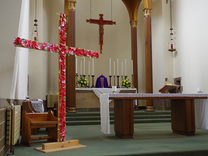 The decorated cross at St Anthony's Parish. Pic: St Anthony's