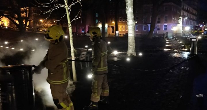 Winckley Square was targeted by arsonists Pic: Preston Fire Station